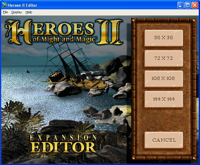 Rpgclassics map editor heroes of might and magic ii decide upon a map size this will open map editor for creatingadjusting maps gumiabroncs Images